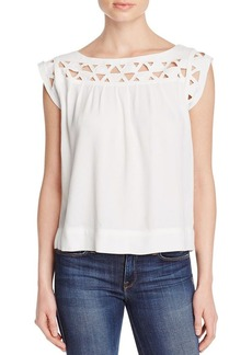 Ella Moss Kaliso Geometric Cutout Yoke Top
