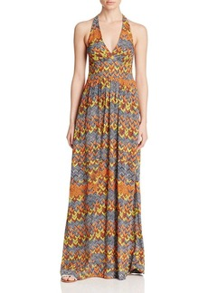 Ella Moss Kaliso Printed Halter Maxi Dress