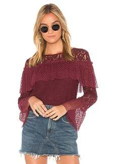 Ella Moss Lace Blouse in Burgundy. - size M (also in S,XS)
