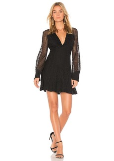 Ella Moss Lace Shift Dress in Black. - size L (also in M,S,XS)