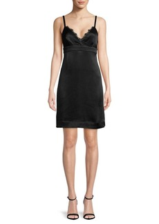 Ella Moss Lace-Trimmed Shift Dress