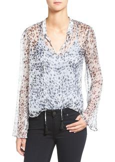 Ella Moss Leopard Print Silk Top