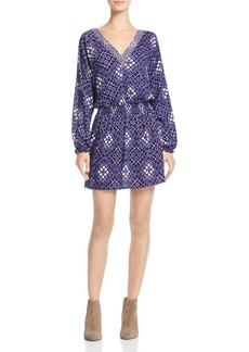 Ella Moss Lilia Printed Smock-Waist Dress