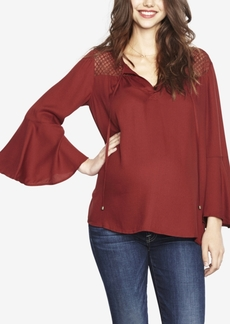 Ella Moss Maternity Bell-Sleeve Top