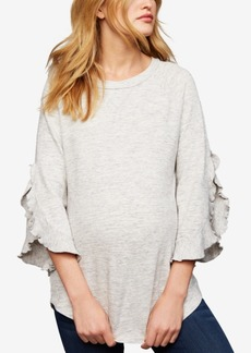 Ella Moss Maternity Split-Sleeve Sweatshirt
