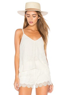 Ella Moss Medallion Crochet Cami in Ivory. - size M (also in S,XS)