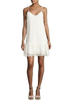 Ella Moss Medallion Crochet Lace Mini Dress
