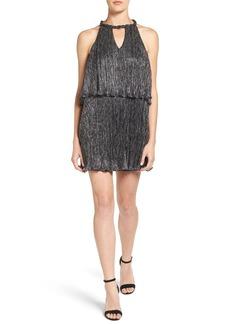 Ella Moss Metallic Popover Shift Dress
