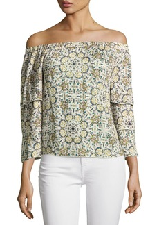 Ella Moss Minori Mosaic Off-the-Shoulder Top
