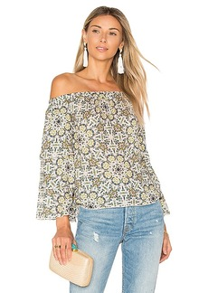 Ella Moss Minori Mosaic Top in Ivory. - size M (also in S,XS)
