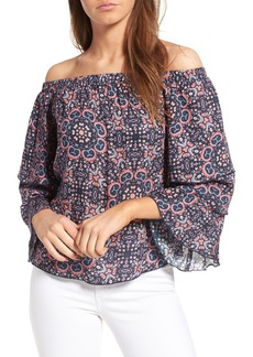 Ella Moss Minoro Mosaic Off the Shoulder Blouse