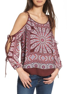 Ella Moss Mosaic Cold Shoulder Top