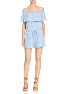 Ella Moss Off-The-Shoulder Chambray Romper