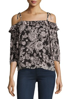 Ella Moss Off-the-Shoulder Floral-Print Blouse
