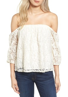Ella Moss Off the Shoulder Lace Top
