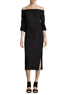 Ella Moss Off-the-Shoulder Midi Dress