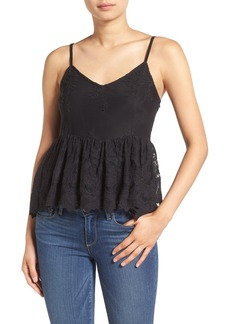 Ella Moss 'Olivier' Embroidered Lace Peplum Camisole