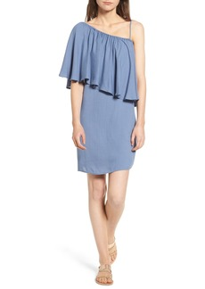 Ella Moss One-Shoulder Cotton & Silk Dress