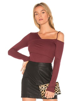 Ella Moss One Shoulder Top in Red. - size L (also in M,S)