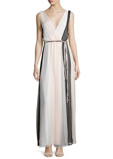 Ella Moss Ophelia Sleeveless Colorblock Silk Maxi Dress