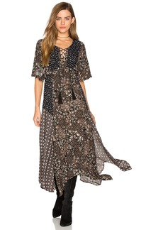 Ella Moss Patchwork Floral Dress