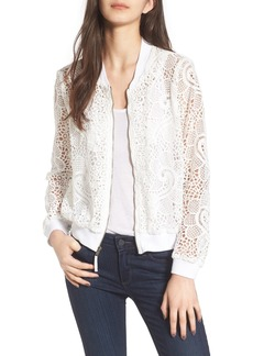 Ella Moss Pixie Sheer Lace Bomber Jacket