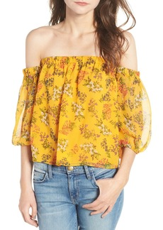 Ella Moss Poetic Garden Off the Shoulder Silk Blouse