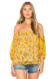 Ella Moss Poetic Garden Top in Mustard. - size M (also in S,XS)