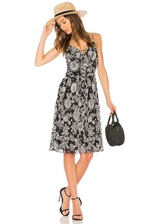 Ella Moss Ria Floral Dress in Black. - size L (also in M,S,XS)