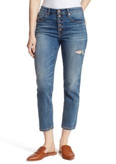 Ella Moss Ripped Straight-Leg Jeans
