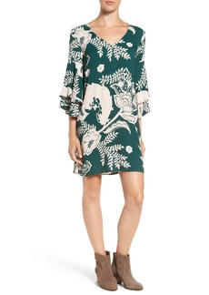 Ella Moss 'Riya' Bell Sleeve Shift Dress