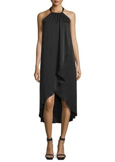 Ella Moss Seti Drape-Front Halter-Neck Dress