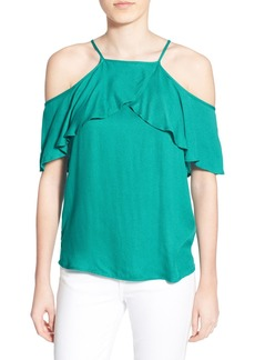 Ella Moss 'Stella' Drapey Ruffle Cold Shoulder Top