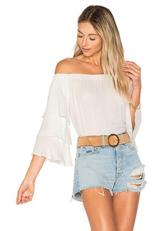 Ella Moss Stella Off Shoulder Top in White. - size M (also in L,S,XS)