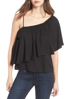 Ella Moss Stella One-Shoulder Crepe Top