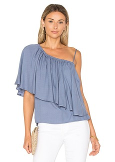 Ella Moss Stella One Shoulder Top in Blue. - size L (also in M,S,XS)