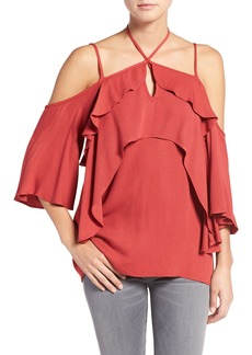Ella Moss 'Stella' Strappy Ruffle Cold Shoulder Top