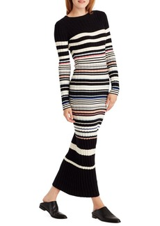 Ella Moss Striped Sweater Pencil Maxi Dress