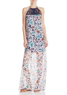 Ella Moss Tahiti Print Silk Maxi Dress