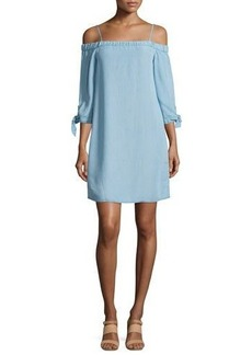 Ella Moss The Bare Shoulder Chambray Dress