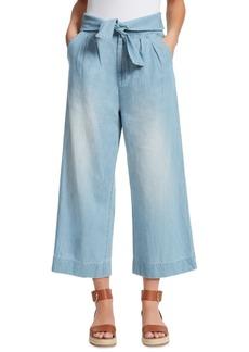 Ella Moss Tie-Front Wide-Leg Jeans