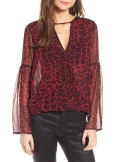 Ella Moss Tigris Print Silk Shirt