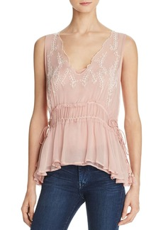 Ella Moss Trellis Vine Embroidered Top