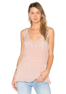 Ella Moss Trellis Vine Top in Blush. - size M (also in S,XS)