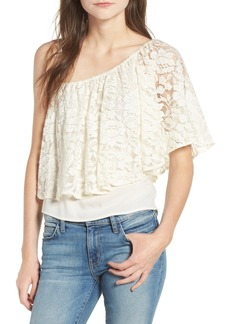 Ella Moss Trello Lace One-Shoulder Top