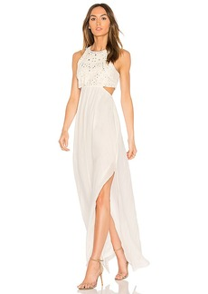 Ella Moss Valletta Cutout Maxi Dress in Ivory. - size L (also in M,S,XS)