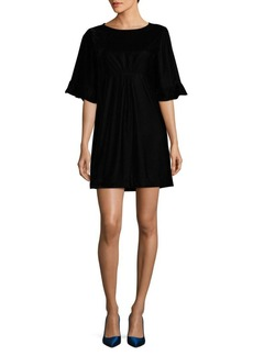 Ella Moss Velvet Flutter Sleeve Dress