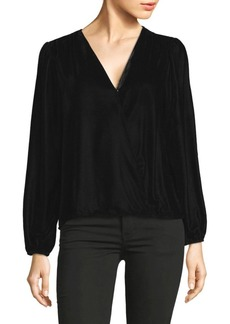 Ella Moss Velvet Long -Sleeve Top