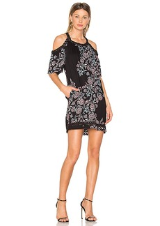 Ella Moss Wanderer Floral Dress in Black. - size M (also in S,XS)