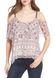 Ella Moss Wayfare Cold Shoulder Silk Top